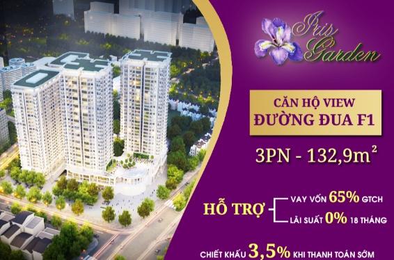 Chính chủ cần nhượng lại căn hộ 3 phòng ngủ chung cư Iris Garden - 30 Trần Hữu Dực